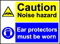More info on 'Caution Noise Hazard-Ear Protectors Must Be Worn' - Safety Sign