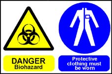 More info on 'Danger Biohazard-Protective Clothing Must Be Worn' - Safety Sign